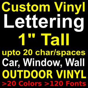 CUSTOM VINYL LETTERINGSTICKERSLETTERSDECALSWALLWINDOWCAR - Custom vinyl outdoor decals