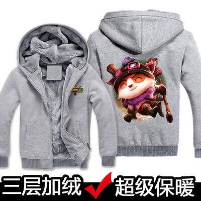 Unique Printing Men's Winter Sweats LOL Jacket Zipper Hoodie Plus Velvet Coats