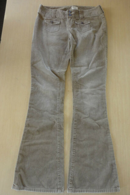 ABERCROMBIE & FITCH Light Brown Cotton Corduroy Casual Pants Size 0 ~W2329