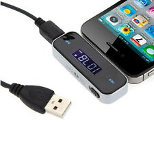 3.5mm FM CAR RADIO WIRELESS MUSIC TRANSMITTER FOR CELL PHONE iPOD