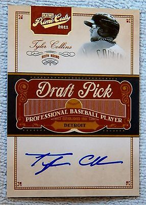 Detroit Tigers Tyler Collins Signed 2011 Prime Cuts Auto Card #/249