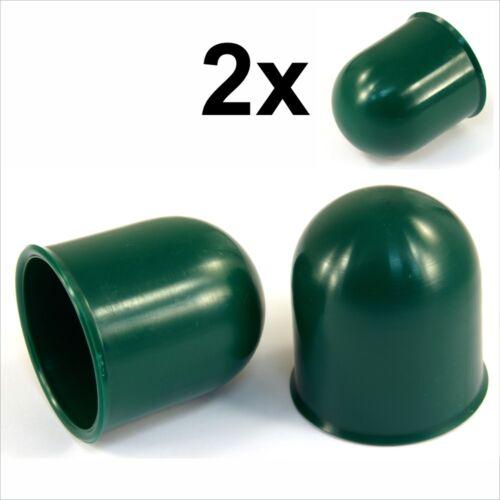 2x 50mm Verde Gancio a Sfera Barra Copertura TAPPO TRAINO AUTO CARAVAN RIMORCHIO AUTO GANCIO del 2