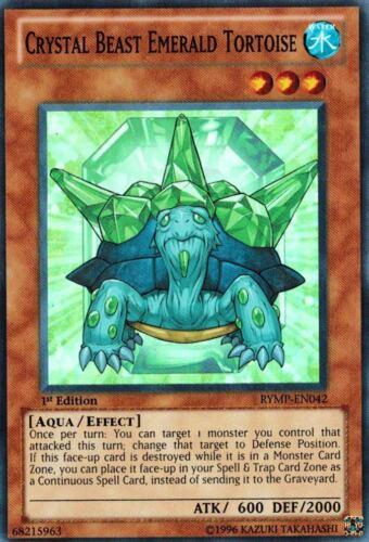 Crystal Beast Emerald Tortoise 1st X 3 RYMP-EN042 Super Yugioh