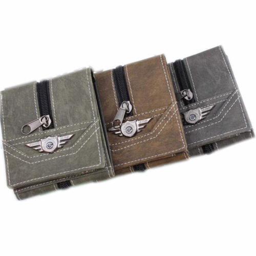 Men Casual Canvas Trifold Military Tactical ID Billfold Wallet With Coin Pocket