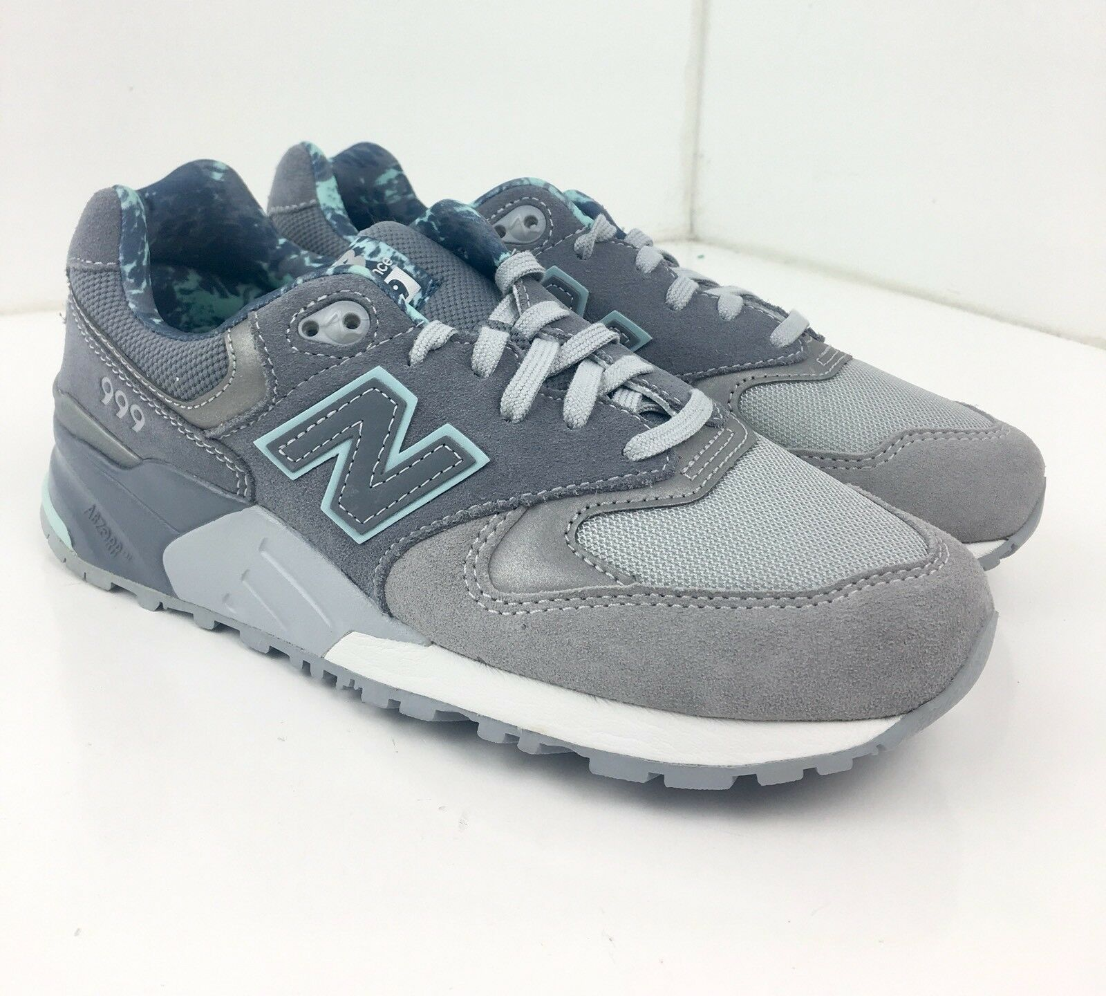 New Balance 999 Damens 7.5 Blau Lace & Gray Lace Blau Up Suede Running Schuhes WL999TB A111 425afe