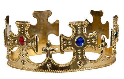 Gli adulti ORO RE//REGINA CORONA Royalty//medievale Costume Accessorio