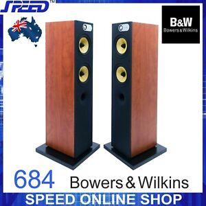 Bowers-amp-Wilkins-B-amp-W-684-Floor-Standing-Loudspeakers-Red-Cherry-Pair-ExDemo