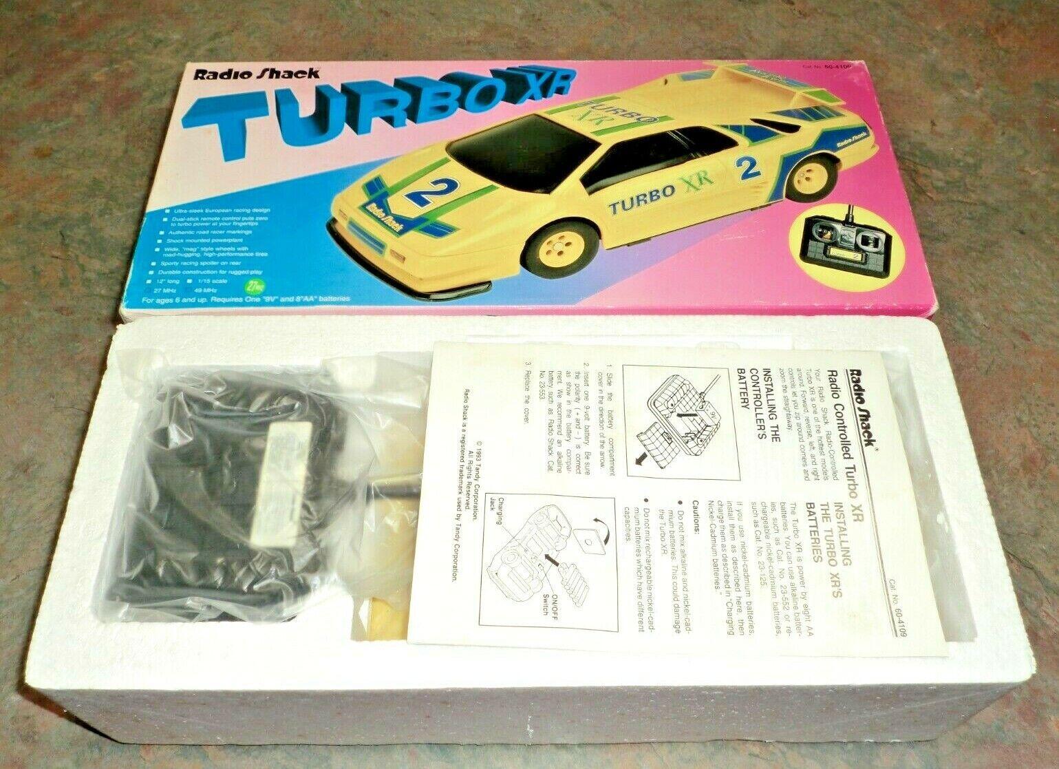 Nuevo Vintage Turbo XR Radio Shack coche controlados por radio con Controlador Nuevo en Caja Original 11