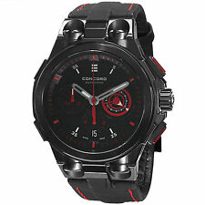 Concord Men's C2 Back Dial Leather Strap Chronograph Automatic Watch 0320187