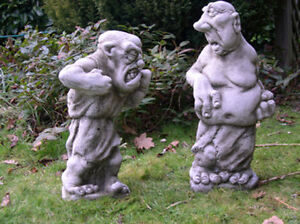 Image Is Loading Stone Thin Amp Fat Fighting Gargoyle Stone Gargoyles