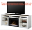 dimplex electric fireplace galloway media console tv stand dm25-1434w
