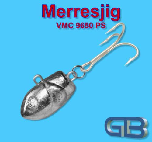 Meeresjig morue bombe 45g gigue avec vmc 9650 CH bleikopf puante jigkopf