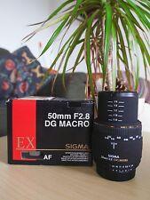 Sigma 50 mm F2,8 EX DG Makro-Objektiv (55 mm Filtergewinde) für Nikon AF-D