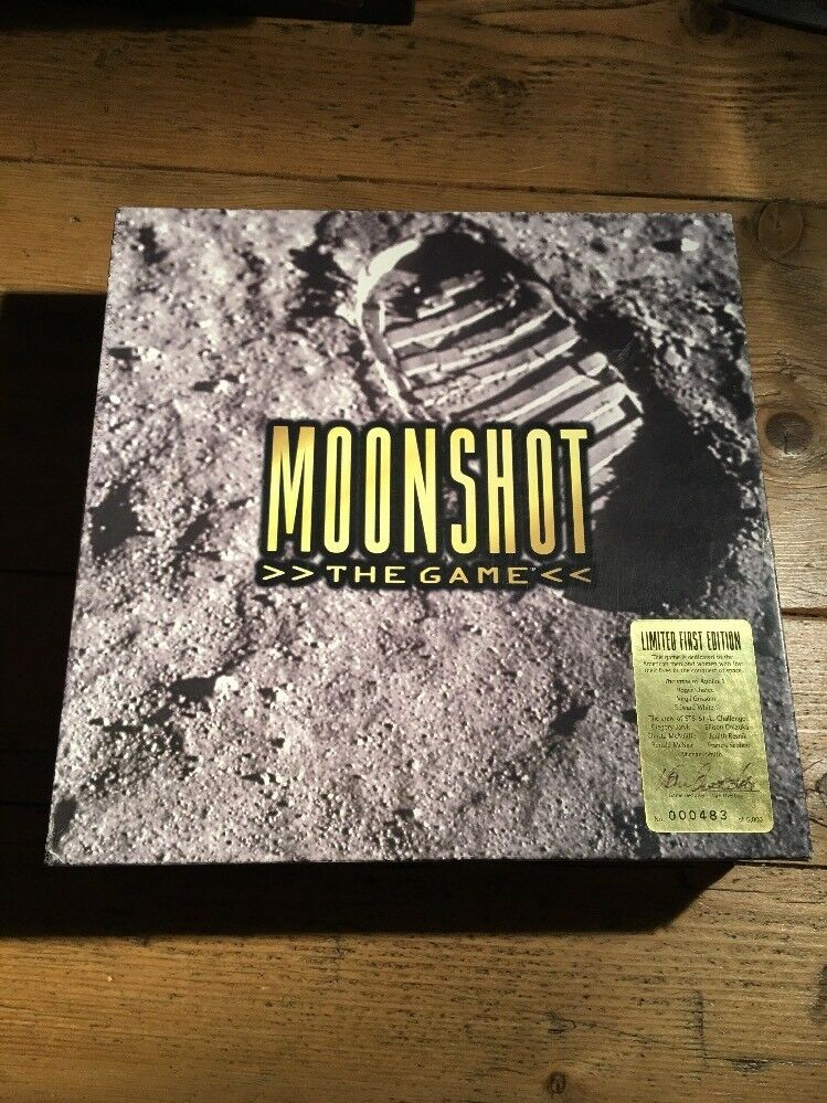 RARE LIMITED SIGNED FIRST EDITION  MOONSHOT THE GAME  BOARD GAME 1997 483 5000
