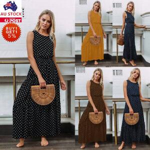 Women-Summer-Vintage-Spotted-Sleeveless-Long-Maxi-Dress-Holiday-Beach-Dress
