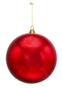 12IN-EXTRA-LARGE-SHINY-RED-CHRISTMAS-BALL-ORNAMENT-HANGING-STRING-PLASTIC-280M