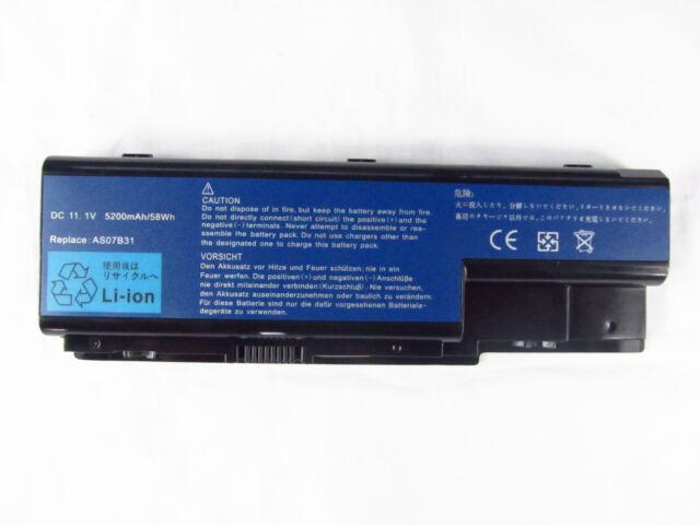 Laptop Battery for ACER eMachines E510 E520 E720 G420 G520 G620 AS07B31 AS07B41