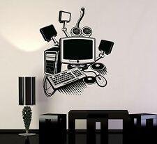 Vinyl Decal Gamer Play Room PC Computer Kids Art Mural Wall Stickers (ig3213)