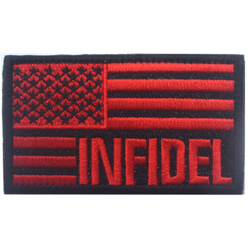 ARMY 3D MORALE BADGE TACTICAL PATCH #03 USA FLAG USA INFIDEL FLAG U.S