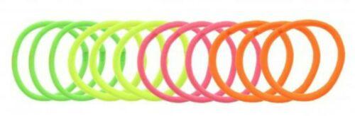 Donna Ragazze Da Donna 12 Pack Neon Rosa Arancio Giallo Verde Elastici Per Capelli