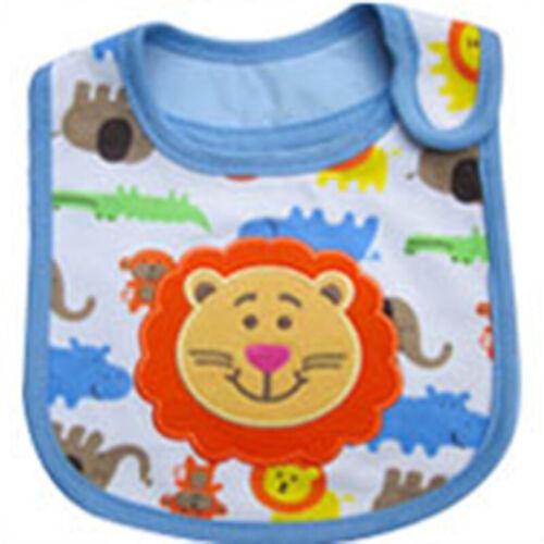 Waterproof Bibs Baby Infant Cartoon Cotton Boy Burp Kids Feeding Towel Saliva
