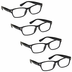 Mens-Womens-Reading-Glasses-4-Packs-UV-Reader-RRRR77