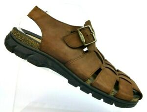 b72f047b3 Image is loading ECCO-Brown-Leather-Fisherman-Casual-Sandal-Shoes-Men-