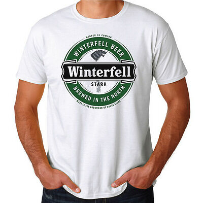 Game Of Thrones Winterfell Beer TV Show GOT Hodor Snow Funny New Mens T-Shirt