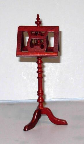 MAHOGNY MUSIC STAND DOLL HOUSE FURNITURE MINIATURES