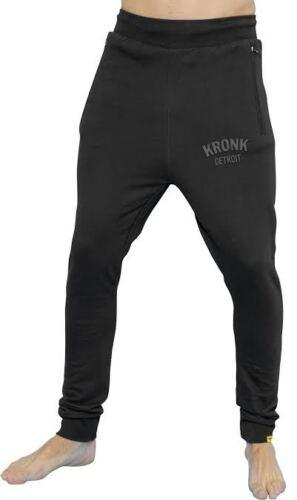 harem style sweatpants joggers jog pants Black KRONK DETROIT tapered leg