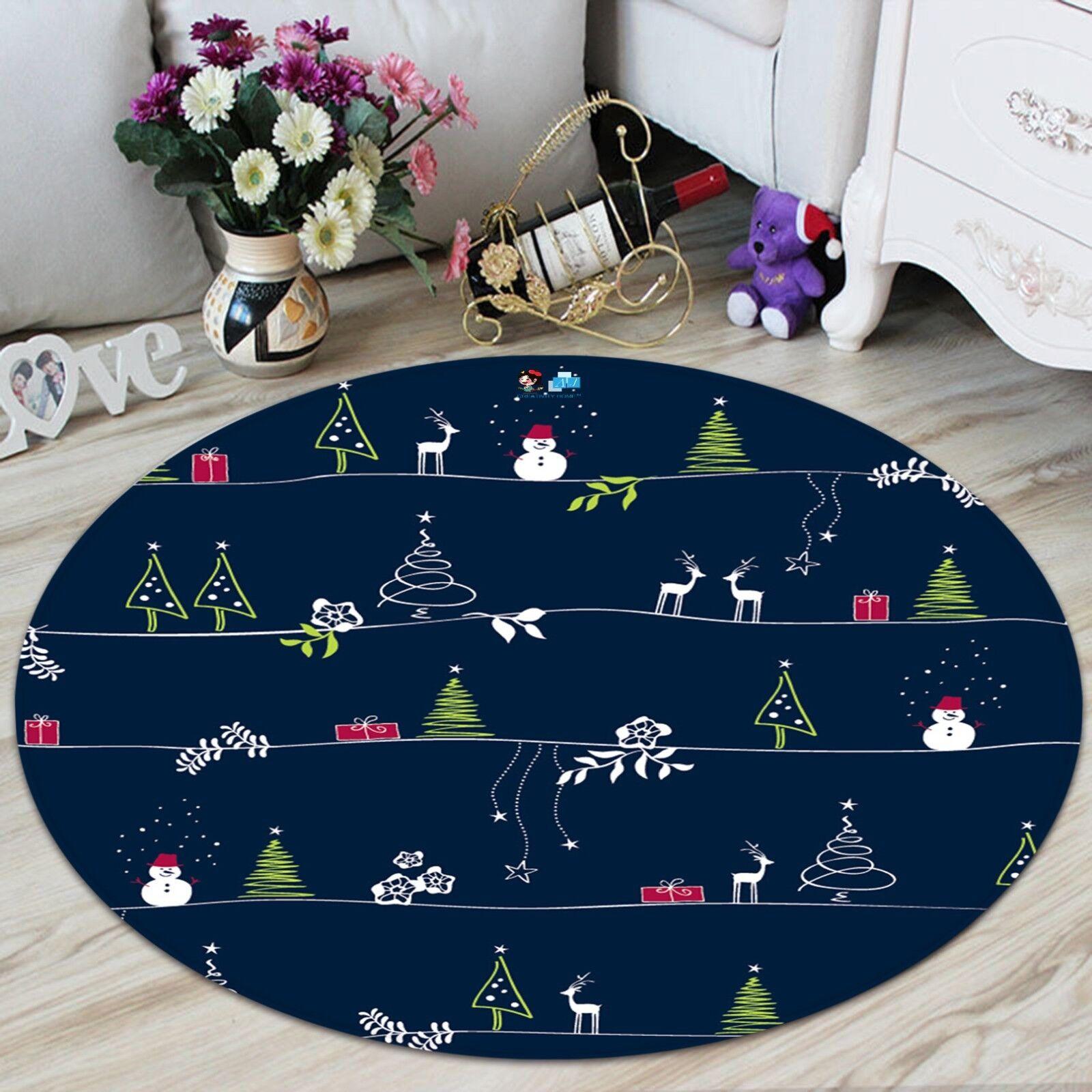 3d Natale Xmas 631 antiscivolo tappeto tappetino vano giri elegante TAPPETO de