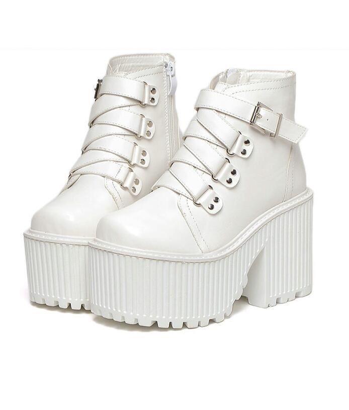 Gothique Femme Punk Cheville Bottes Plateforme Super bottier massif Lolita Chaussures