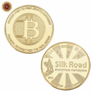WR-24K-Gold-Bitcion-Physical-BTC-Coin-Silk-Road-Commemorative-Coin-Collectibles