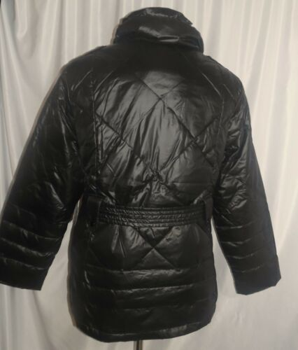 16W-18W Big Chill Women/'s Plus 1X Jacket Black Color Size Belted Puffer Coat