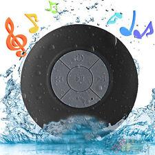 Waterproof Wireless Bluetooth Handsfree Mic In-Car / Shower Mini Suction Speaker