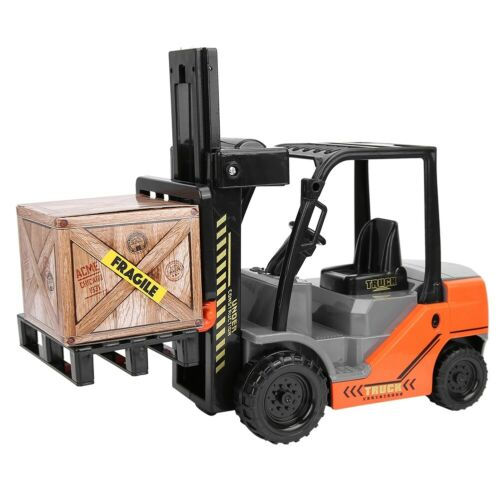 1:10 Scale Children Forklifts Toy Model Inertia Forklifts Gift Toy With Pa