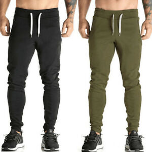 Mens-Slim-Fit-Sports-Gym-Pants-Jogging-Running-Trousers-Tracksuit-Sweatpants-Hot