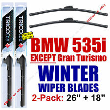 WINTER Wipers 2-Pack Premium Grade - fit 2011-2016 BMW 535i - 35260/180