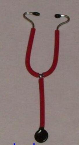 rouge échelle 1:12 miniature P.D poupée//Cabinet du Médecin #02# Stéthoscope