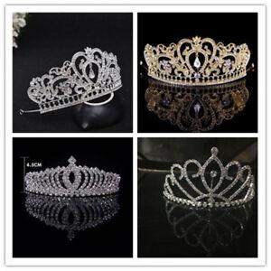 Rhinestone-Wedding-Tiara-Headband-Bridal-Tiara-Crown-Prom-Pageant-Headpiece-C9Y1