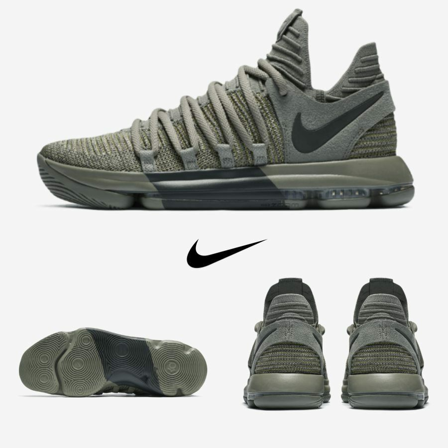 sports shoes a5bf4 55713 Nike Zoom KD KD KD x 10 Veterans Running Sneakers 897817-002 Stucco Green Sz