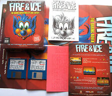 Fire & Ice Graftgold Mindscape Andrew Braybrook Commodore Amiga Ovp Boxed Poster