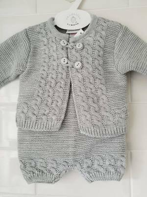 Baby Boy Spanish Style Romper and Jacket Blue or Grey