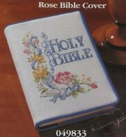 Vintage 1995 Better Homes And Garden Rose Holy Bible Cover Cross Stitch