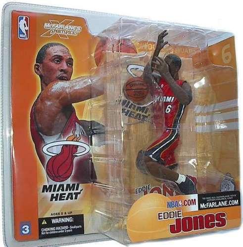 "MCFARLANE - NBA SERIES 3 – EDDIE JONES - MIAMI HEAT - 6"" FIGURE"