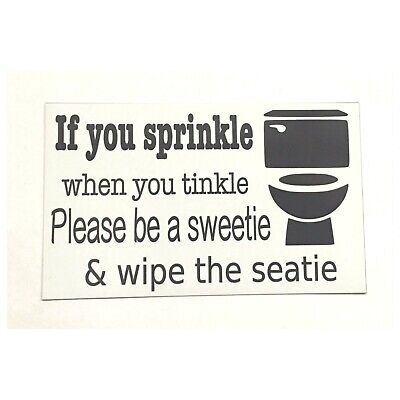 Toilet Sprinkle Tinkle Seatie Shell Beach House Sign Wall Plaque or Hanging