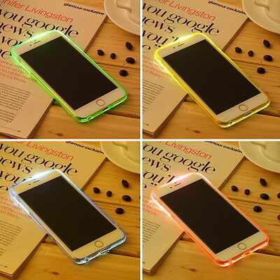 "LED Flash Light UP Remind TPU Incoming Call Cover Case For iPhone 6 Plus 5.5"" FT"