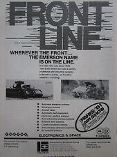 5/1981 PUB EMERSON ELECTRONICS SPACE DEFENSE SYSTEMS ANTI TANK RADAR ORIGINAL AD