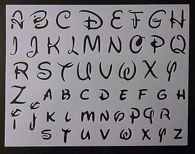 "Disney Alphabet Letters 1.2/"" Font 11/"" x 8.5/"" Custom Stencil FAST FREE SHIPPING"