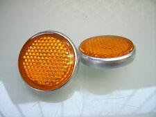 2x SEITEN REFLEKTOR RAHMEN 38MM SIDE REFLECTOR FRAME RD 250 350 DT 250 XS 650